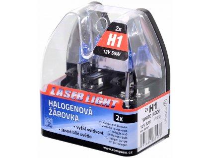 61865 1 zarovka 12v h1 55w p14 5s white laser 2ks