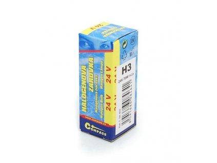61757 2 zarovka 24v h3 70w pk22s box