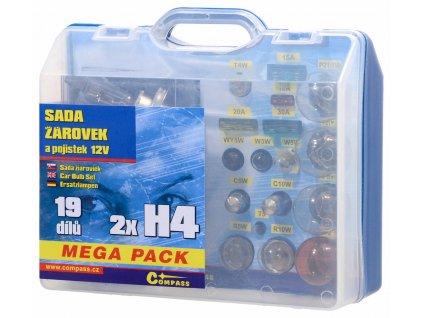 61841 4 zarovky 12v servisni box mega h4 h4 pojistky