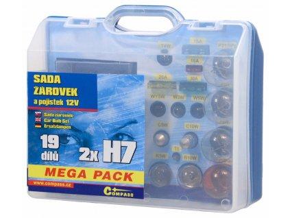 61838 4 zarovky 12v servisni box mega h7 h7 pojistky