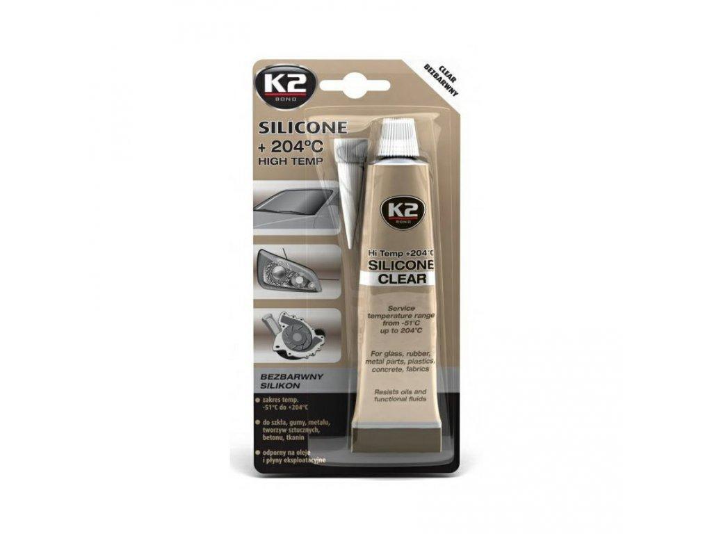 K2 SILICONE CLEAR 85 g - vysokoteplotní čirý silikon