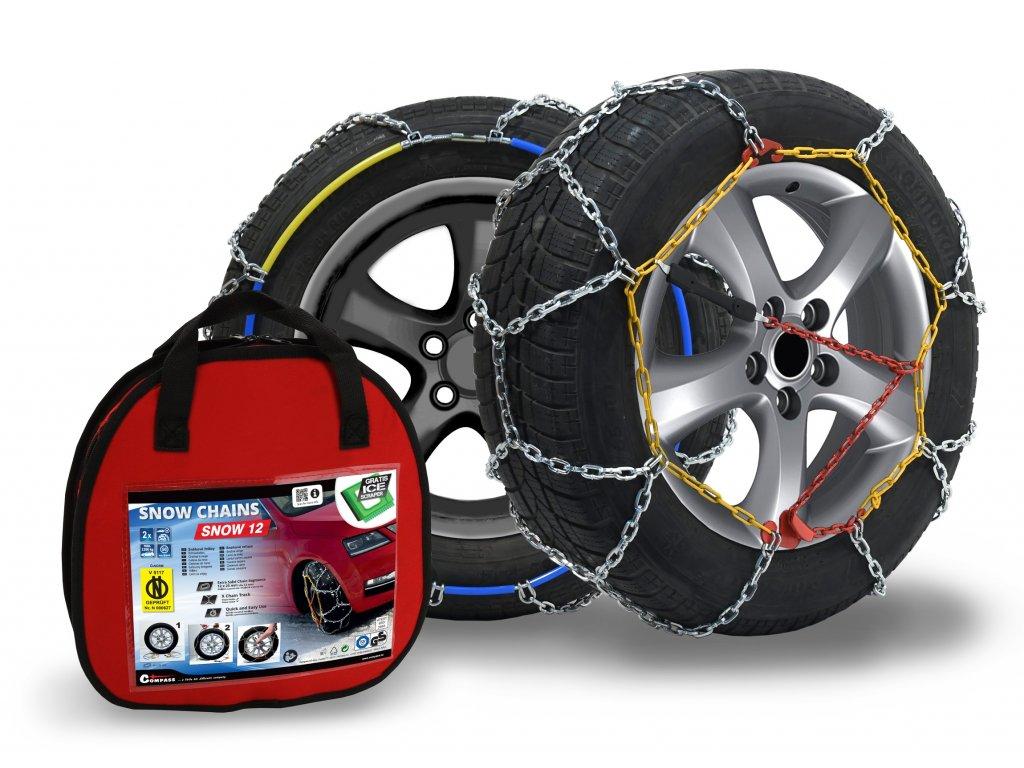 Compass Sněhové řetězy SNOW12 ÖNORM X90 nylon bag