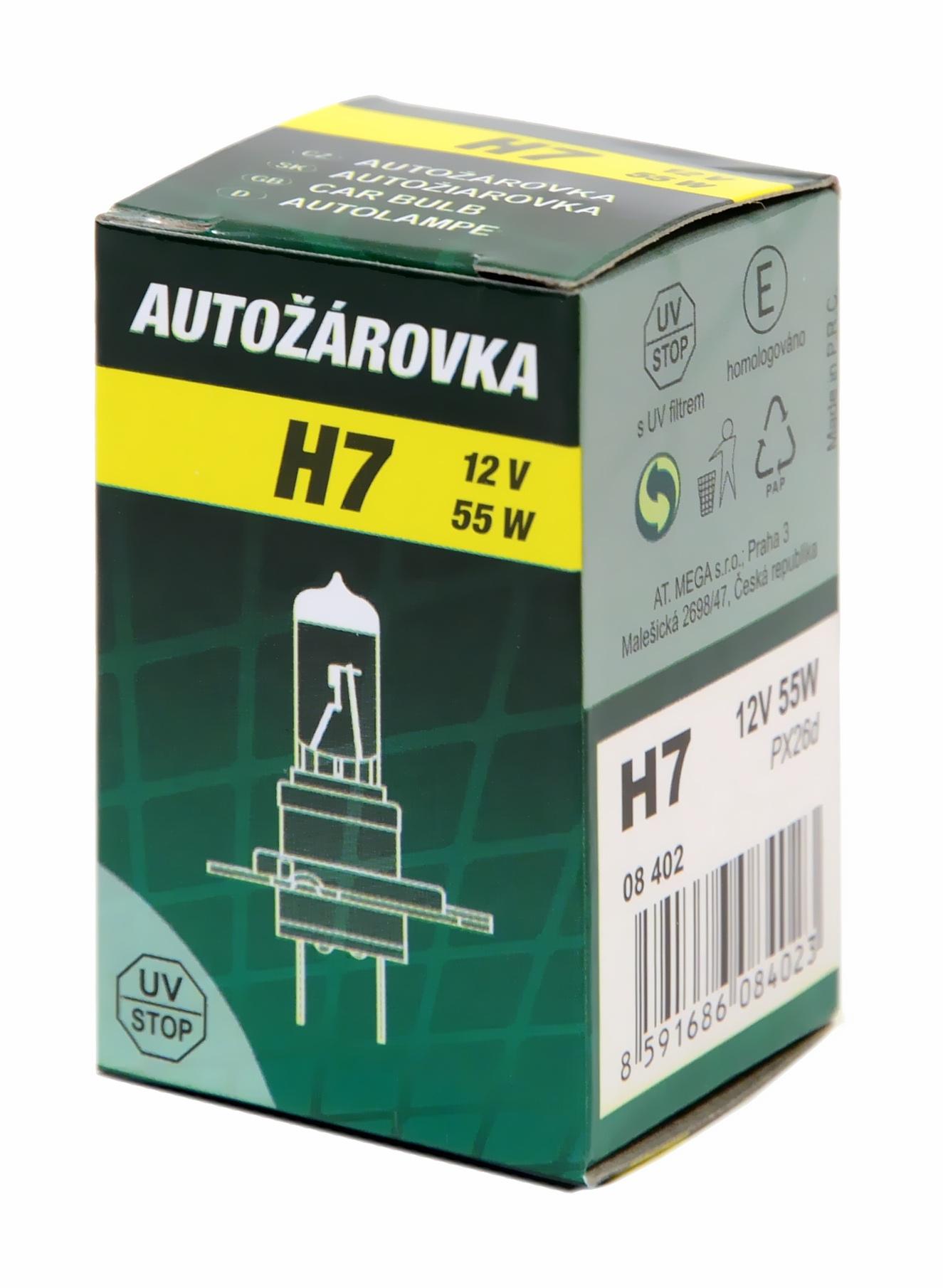 Green Žárovka 12V H7 55W PX26d box