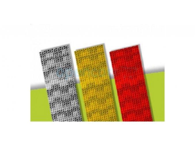 Reflexní páska na pevný podklad - červená