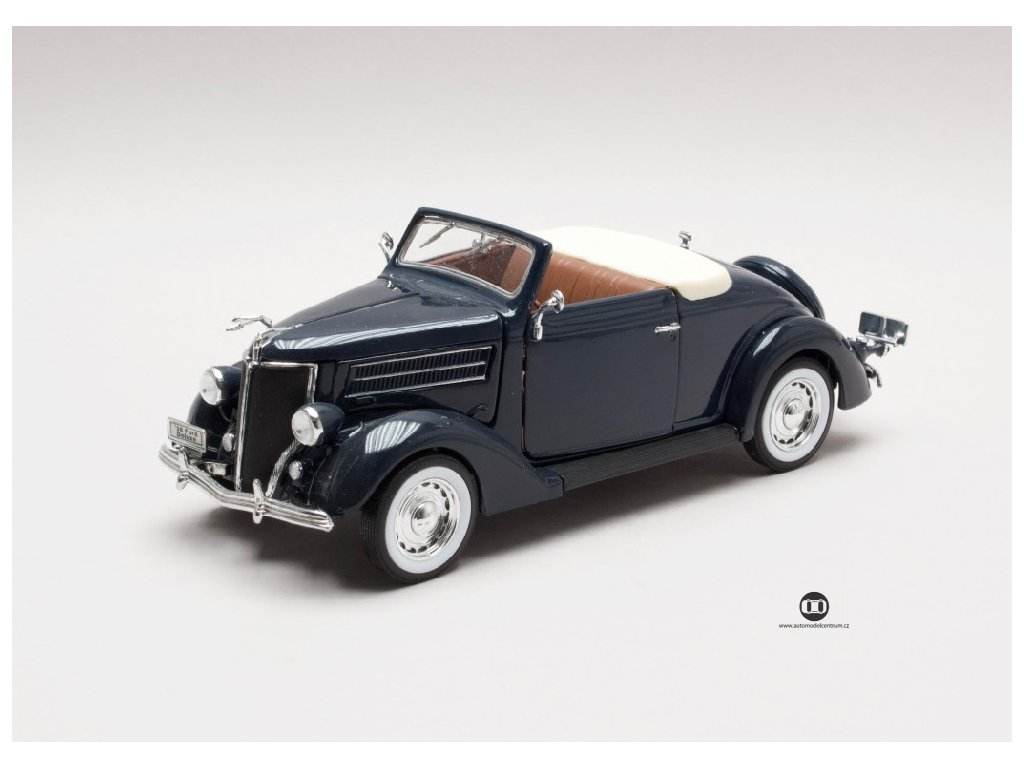 Ford Deluxe 1936 Cabriolet tmave modra 1 24 Welly 22422 01