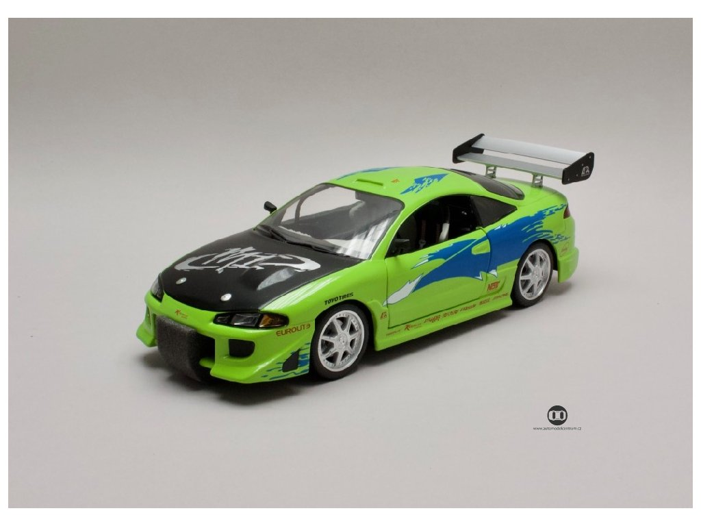 Mitsubishi Eclipse 1995 Brian's Rychle a zb 1 18 Greenlight 19039 01