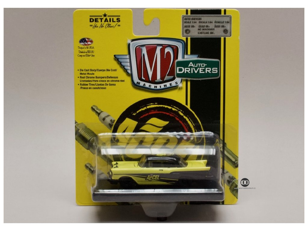 Chevrolet Bel Air 1957 %22ACCEL%22 1 64 M2 Machines 11228 55 01
