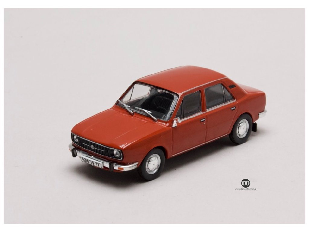 Škoda 105L 1977 úžovka červená paprika 1 43 Abrex 143ABS 723BR 01