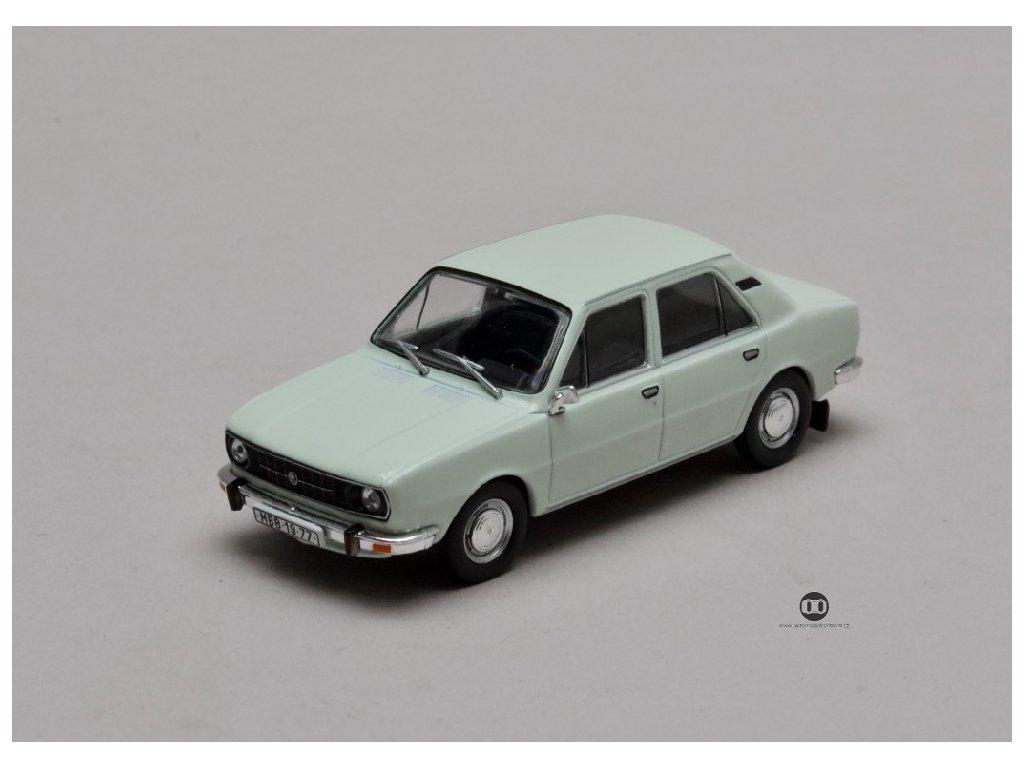 Škoda 105L 1977 úžovka bílá ledová 1 43 Abrex 143ABS 723EB 01