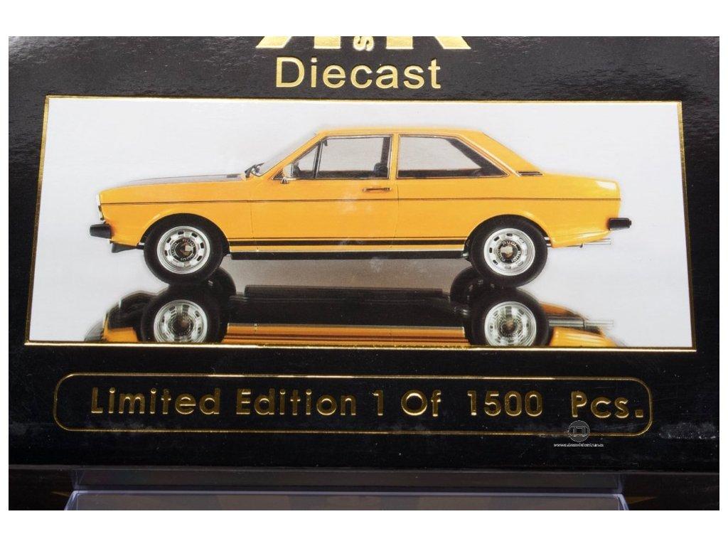 Audi 80 GT E B1 1972 oranžovo černá 1 18 KK scale KKDC180031 02