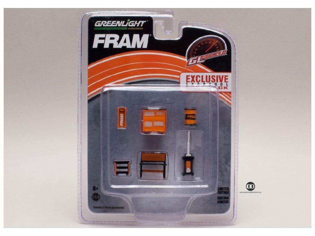 Vybavení dílny FRAM 6 dílů 1 64 Greenlight 13173 01