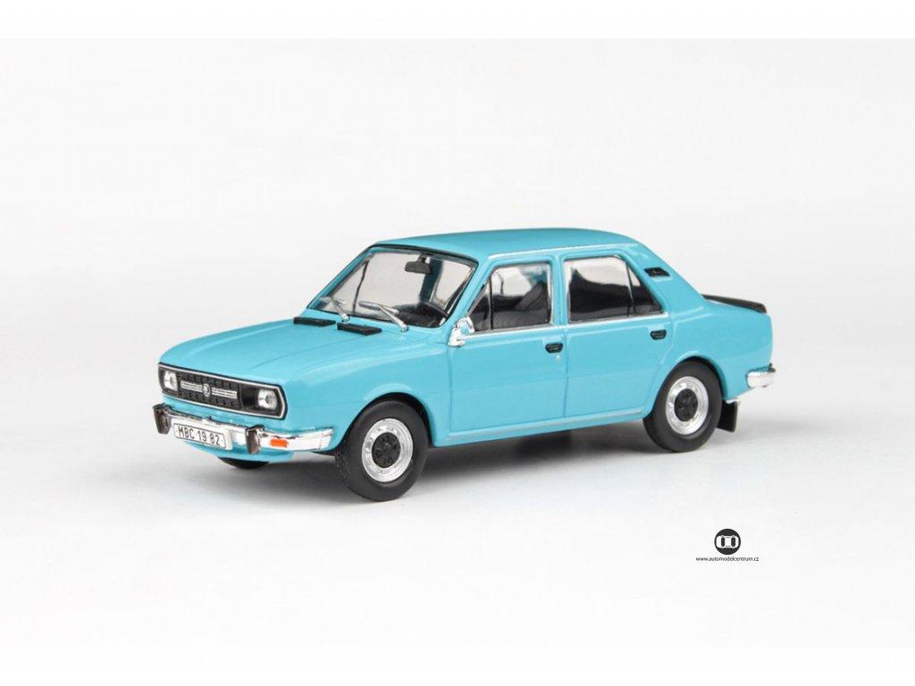 Škoda 120L 1982 úžovka modrá Světlá 1 43 Abrex 143ABS 724MF 01