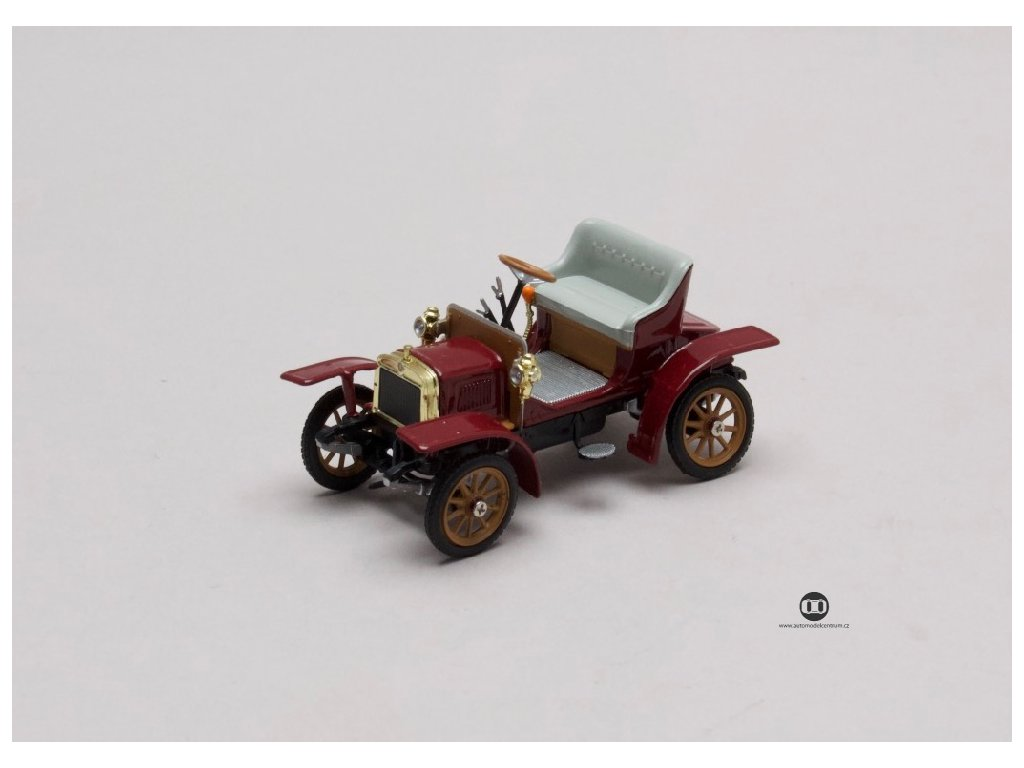 Laurin & Klement Voiturette 1905 červená tmavá 1 43 Abrex 143ABH 901BF 01
