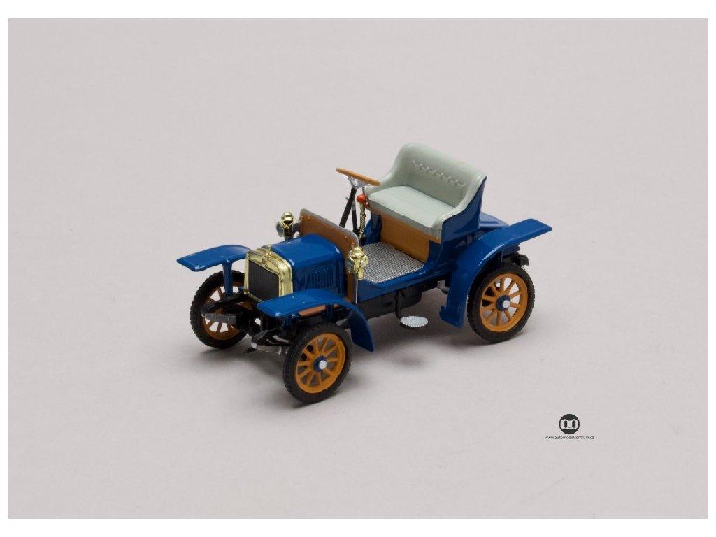 Laurin & Klement Voiturette 1905 modrá Gentian 1 43 Abrex 143ABH 901LH 01