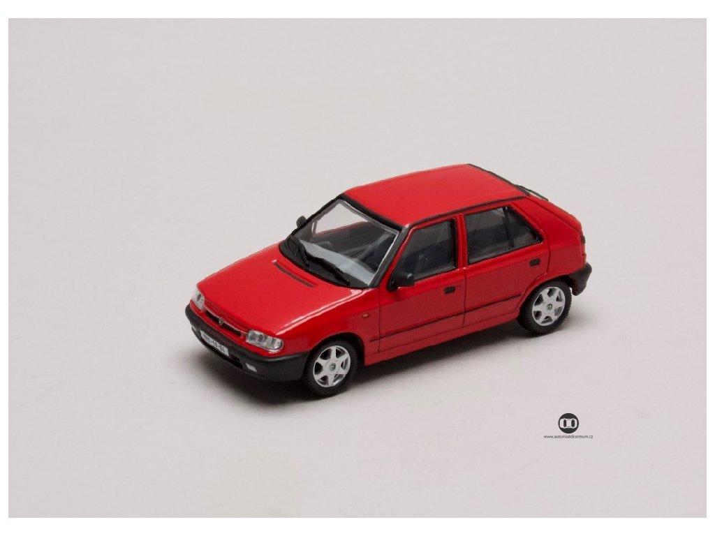 Škoda Felicia 1994 litá kola červená Rallye 1 43 Abrex 143ABS 709BN 01