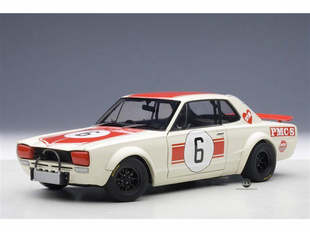 Nissan Skyline GT R KPGC10 Racing 1971 #6 Japan GP vítěz 1 18 Auto Art 87176 01
