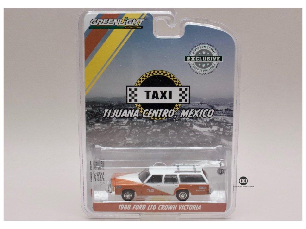 Ford LTD Crown Victoria 1988 Taxi Mexico 1 64 Greenlight 30026 01