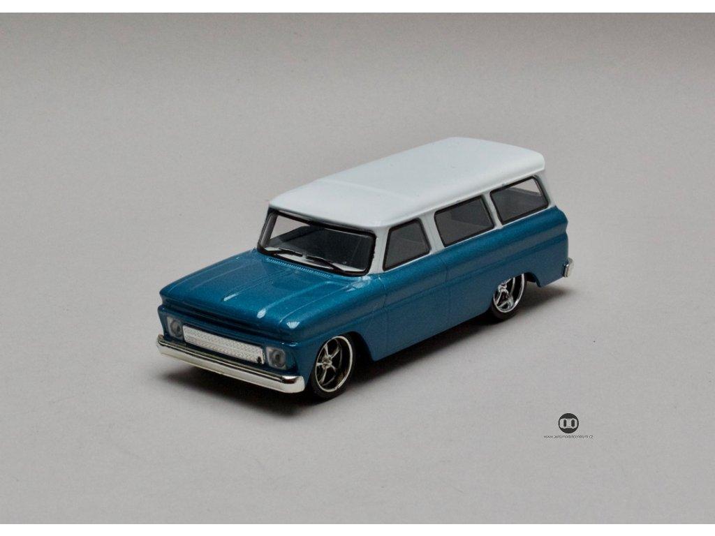 Chevrolet Suburban 1966 modrá-bílá střecha 1:43 Greenlight