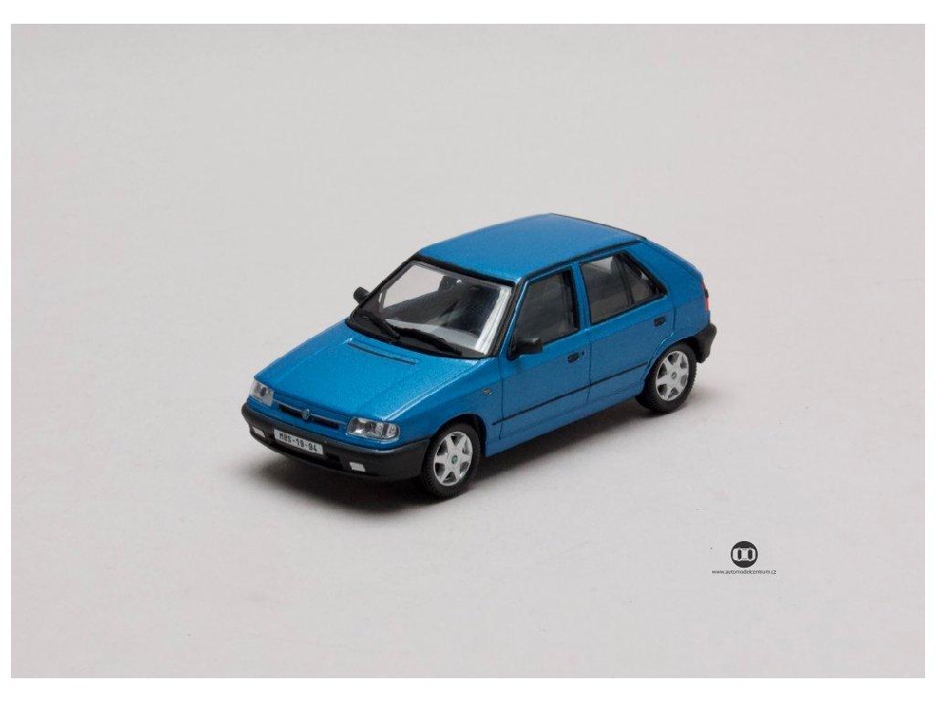 Škoda Felicia 1994 %22litá kola%22 modrá Laguna met 1 43 Abrex 143ABS 709KE 01