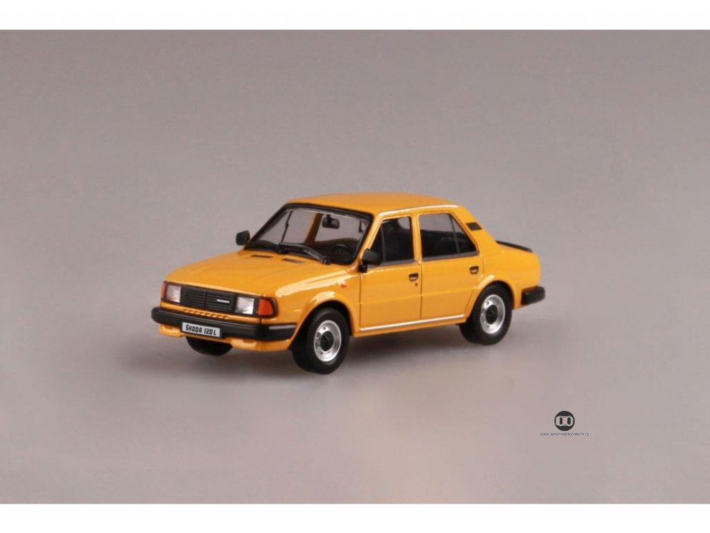 Škoda 120L 1984 model M žlutá Autmn 1 43 Abrex 143ABS 702GU 01