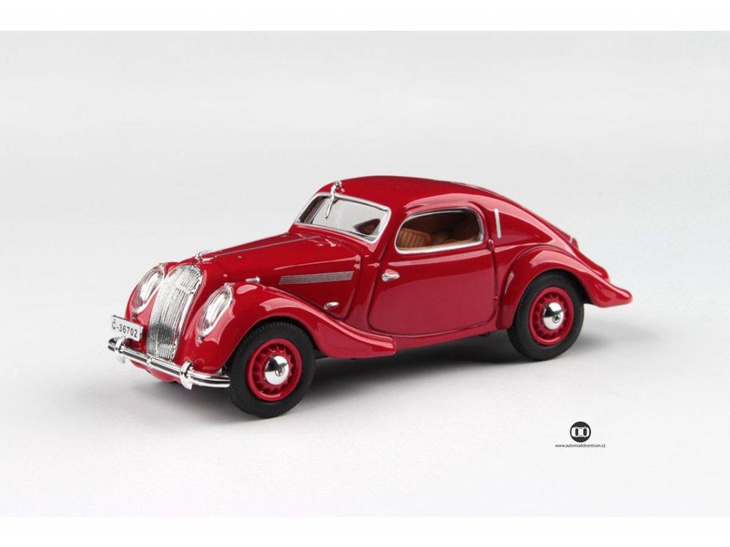 Škoda Popular Sport Monte Carlo 1937 červená 1 43 Abrex 143ABH 903BL 01