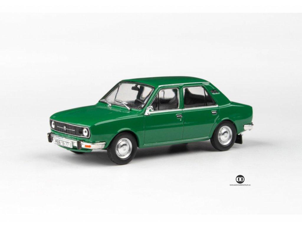 Škoda 105L 1977 úžovka zelená Ostrá 1 43 Abrex 143ABS 723QF 01