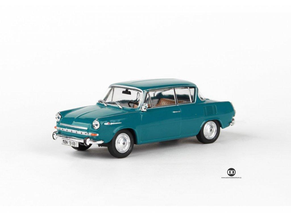 Škoda 1100MBX 1969 modrozelená tmavá 1 43 Abrex 143ABS 721HQ 01