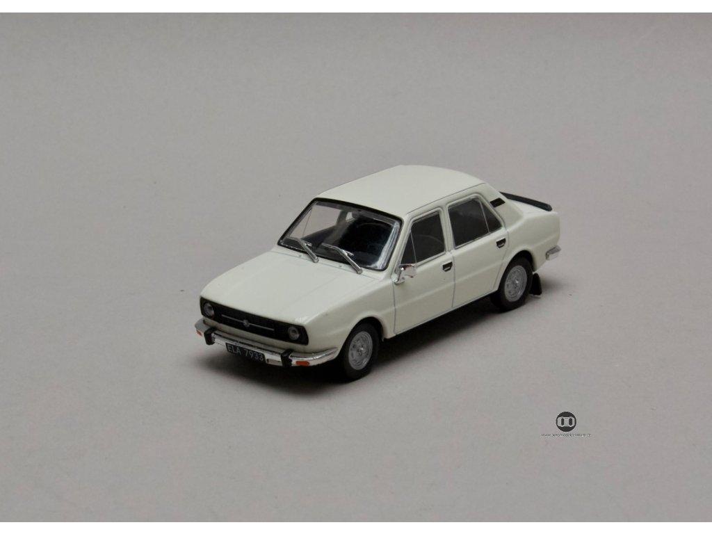 Škoda 105 S 1976 bílá 1:43 Car Selection