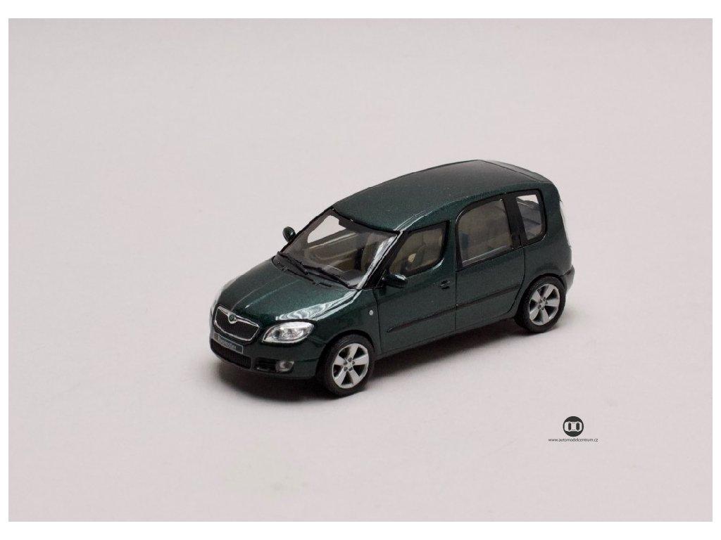 Škoda Roomster 2006 zelená Higland metalíza 1 43 Abrex 143AB 007HL 01