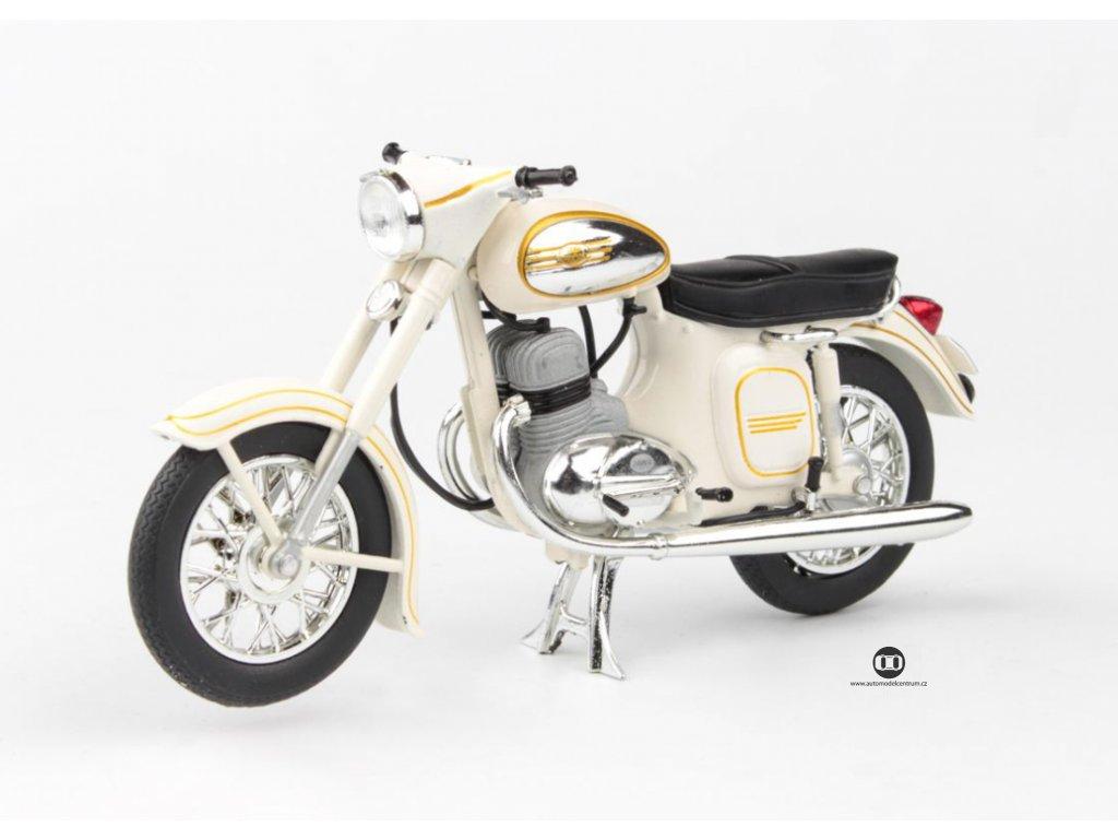 Jawa 350 Kývačka Automatic 1966 bílá 1 18 Abrex 100118M 002e 01
