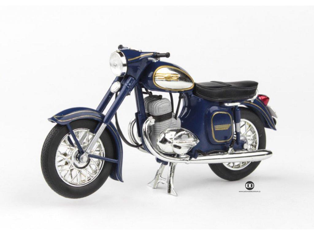 Jawa 350 Kývačka Automatic 1966 modrá Kobaltová 1 18 Abrex 100118M 002d