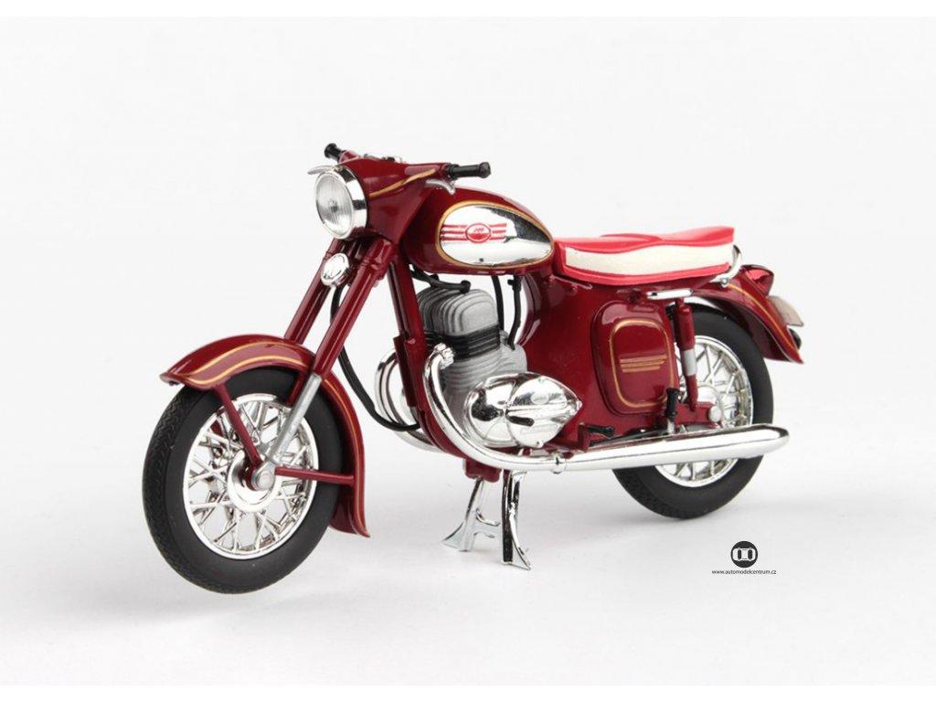 Jawa 350 Kývačka Automatic 1966 tmavě červená 1 18 Abrex 100118M 002 01