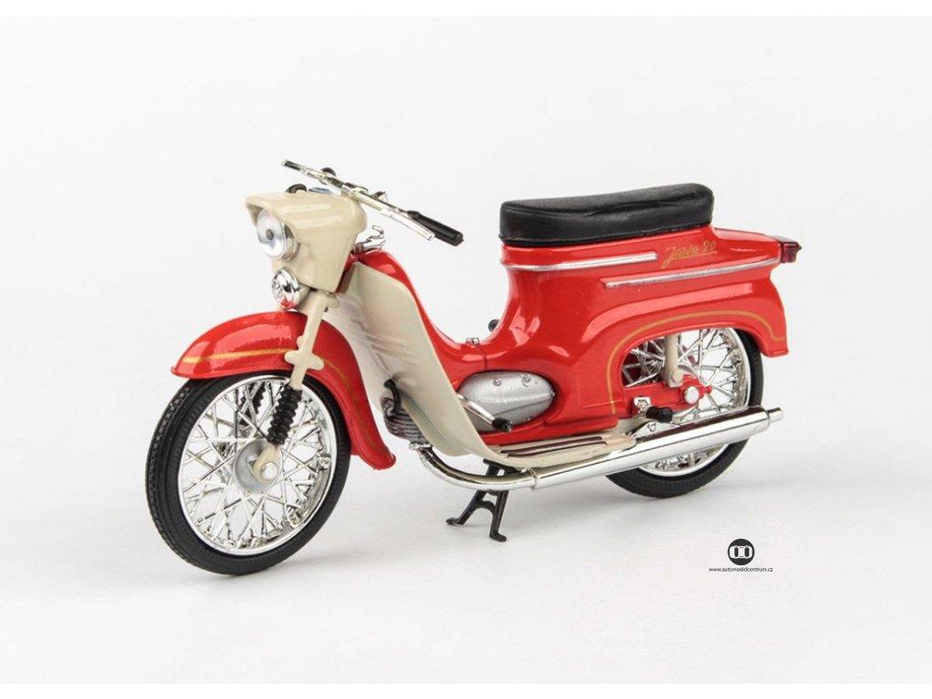 Jawa 50 Pionýr typ 20 1967 červená 1 18 Abrex 100118M 010c 01