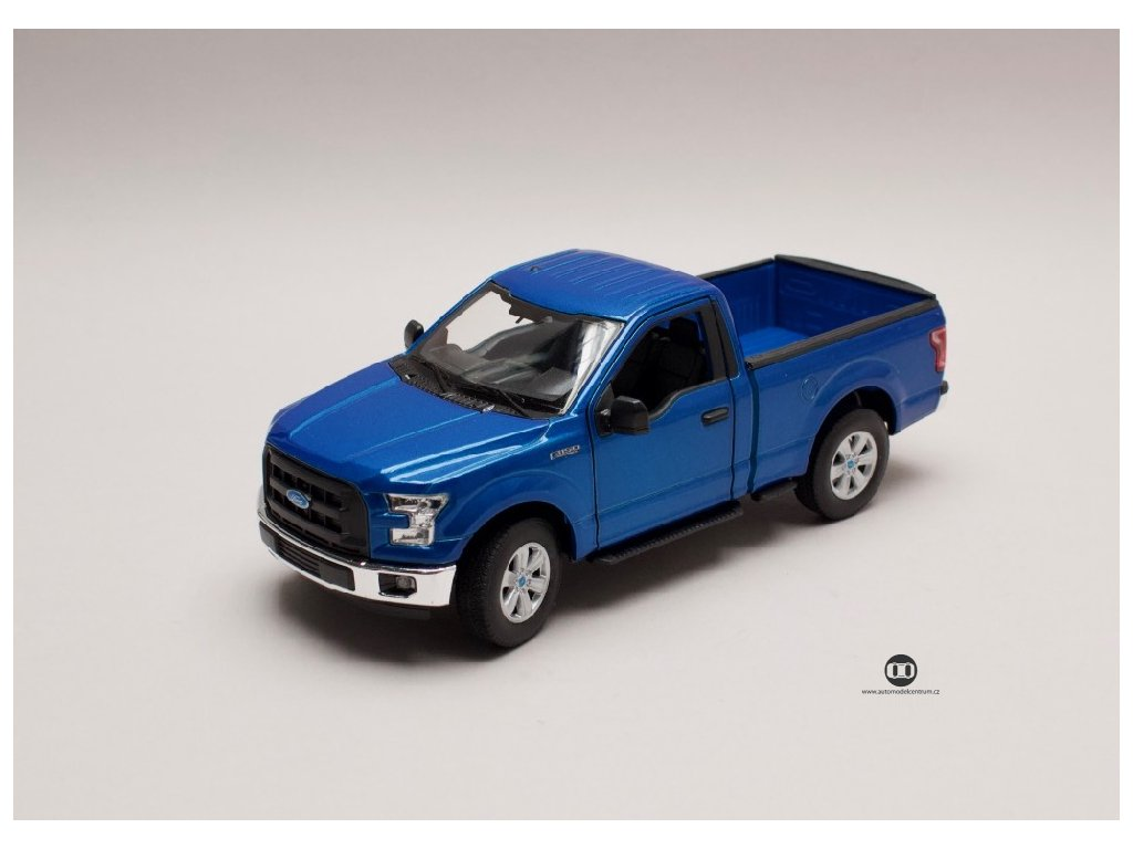 Ford F 150 Regular Cab 2015 met modrá 1 24 Welly 24063 01