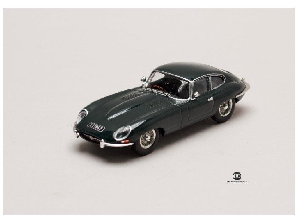Jaguar E Type Coupe 1961 tmavě zelená 1 43 Atlas 01