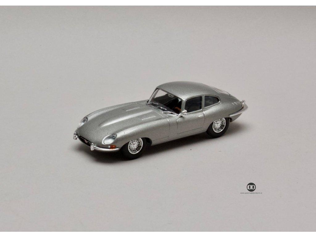 Jaguar E-Type 1961 stříbrno-šedá metalíza 1:43 Atlas