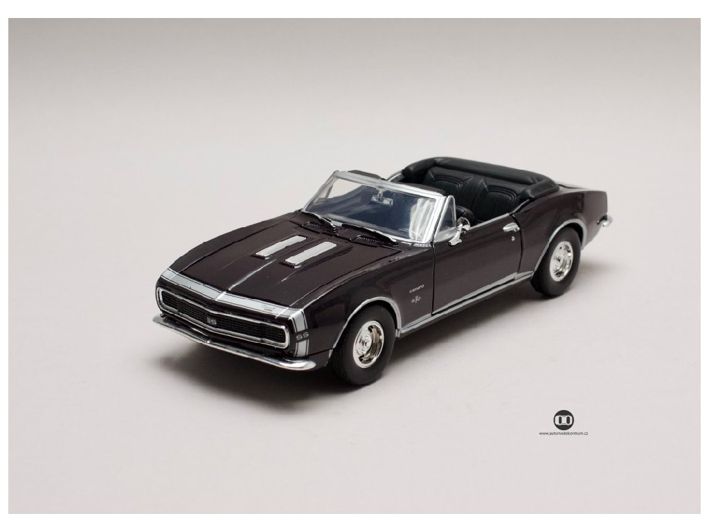 Chevrolet Camaro SS 1967 Convertible černá 1:24 Motor Max