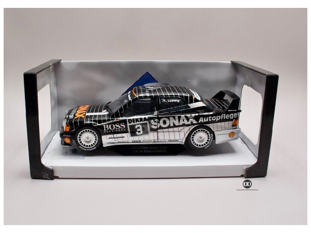 Mercedes Benz 190E 2,5 16 EVO2 #3 Team Sonax DTM 1992 1 18 Solido 1801002 01