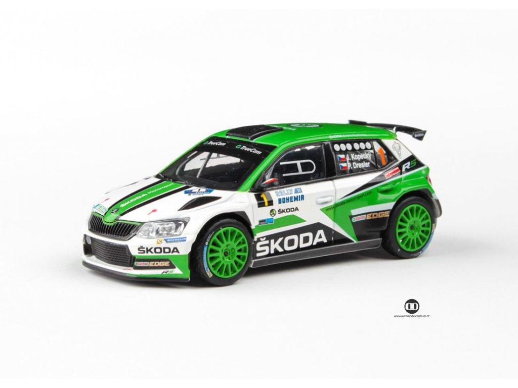 Škoda Fabia 2015 III R5 #1 Rally Bohemia 2017 1 43 Abrex 143XAB 605RJ 01