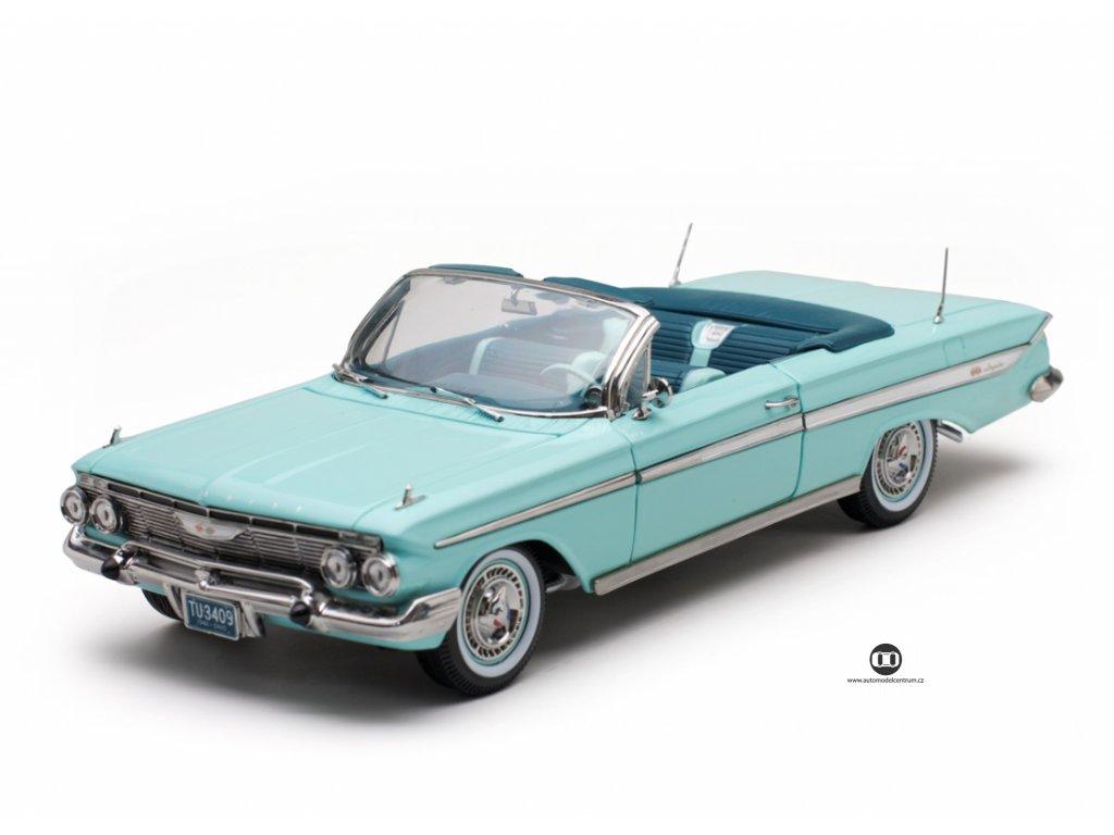 Chevrolet Impala open convertible 1961 kzelená mořská pěna 1 18 Sun Star 3409 01