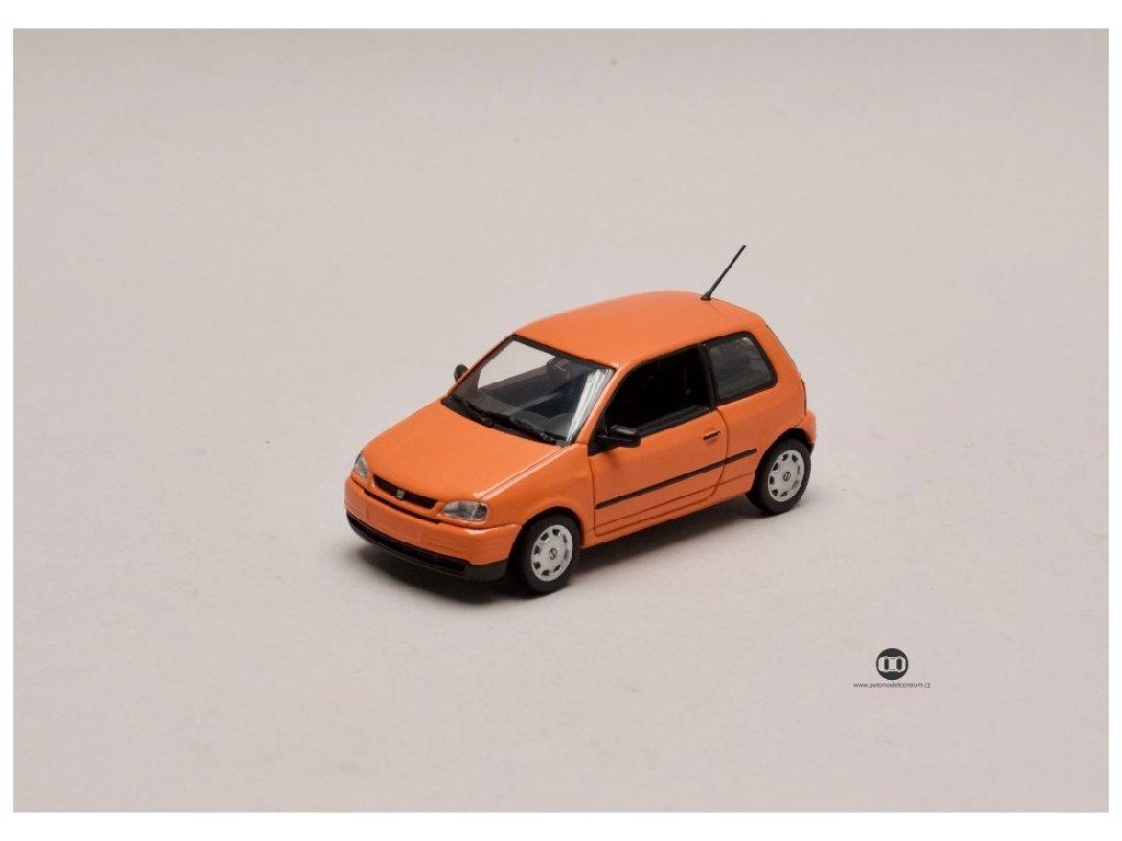 Seat Arosa 1997 oranžová 1 43 Minichamps Seat Auto 01