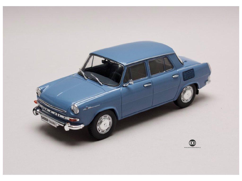Škoda 1000 MB 1969 modrá 1 24 WhiteBox 124054 01