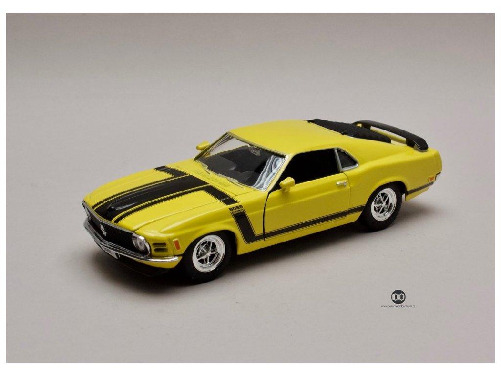 Ford Mustang Boss 302 1970 žlutá 1 24 Welly 22088 01