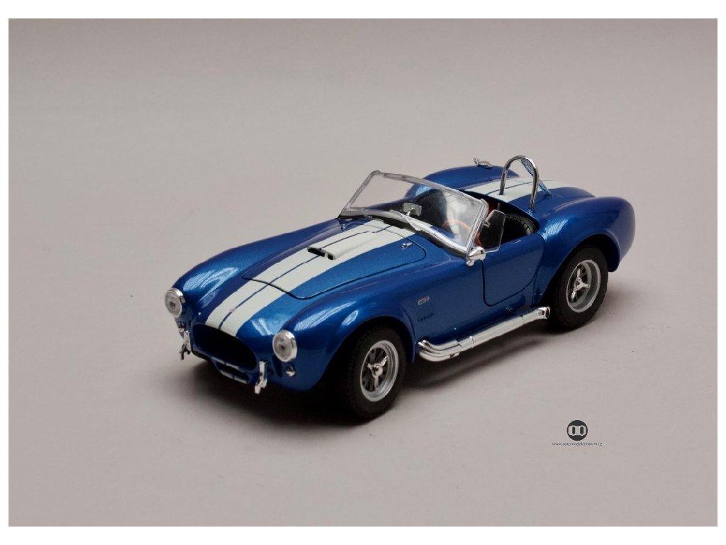 Shelby Cobra 427 S:C 1965 modrá bílé pruhy 1 24 Welly 24002 01