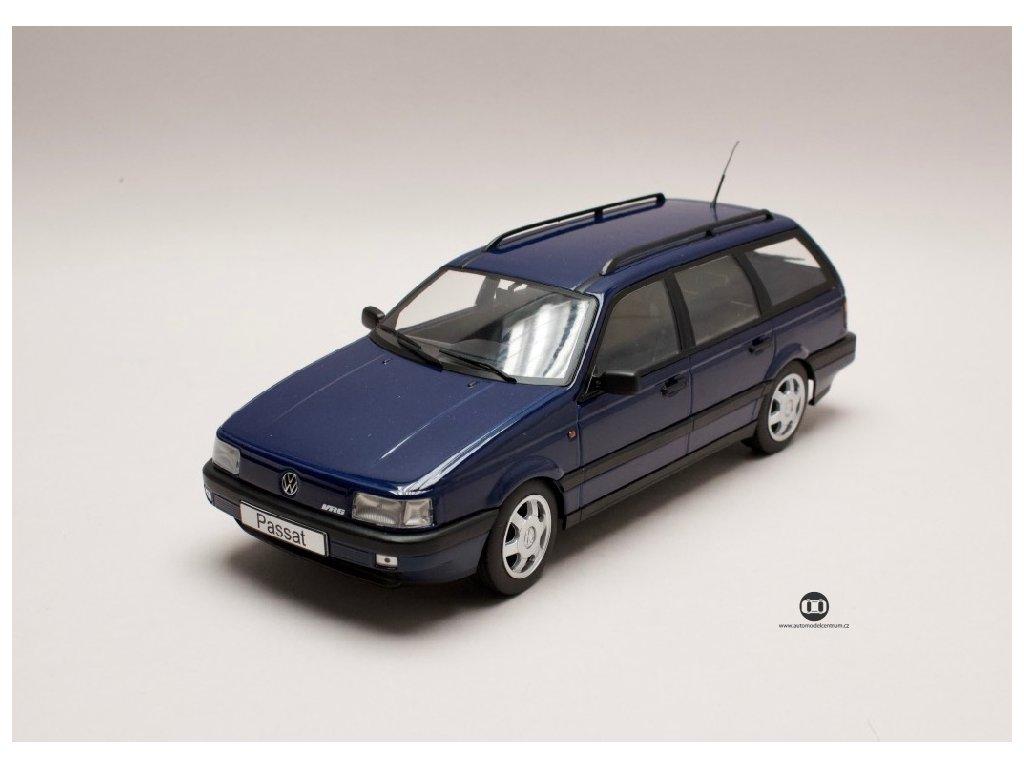 Volkswagen Passat VR6 B3 1988 Variant rmavě modrá 1 18 KK scale 180073 01