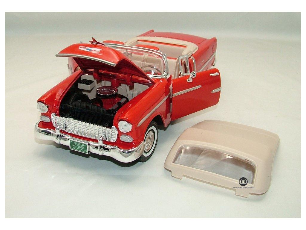 Chevrolet Bel Air 1955 Cabrio červená 1:18 Motor Max