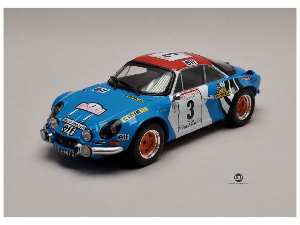 Renault Alpine A110 1800 #3 Rallye Tour de Corse 1973 1 18 IXO 18RMC062B 01