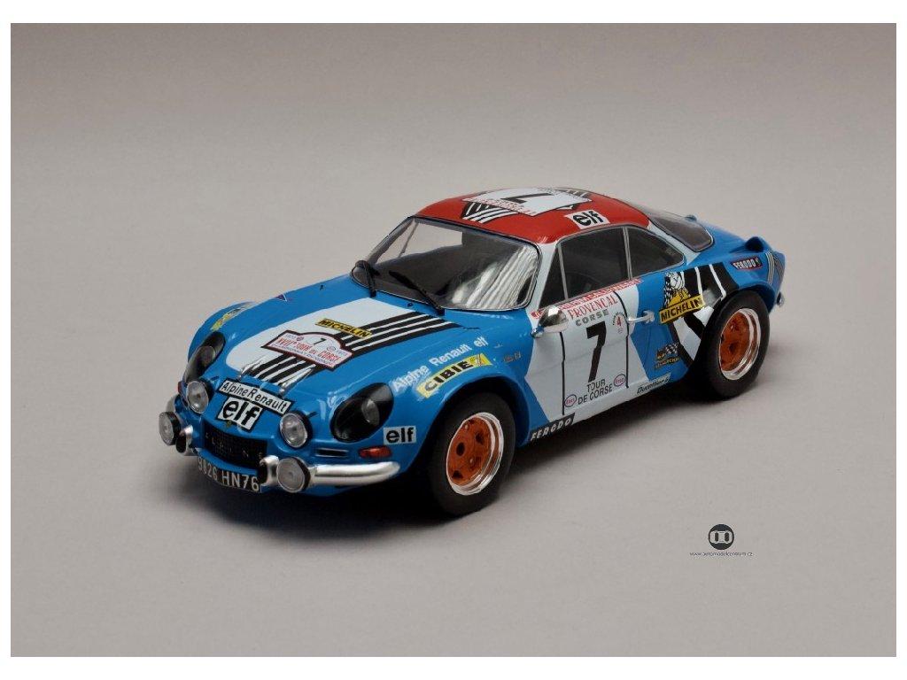 Renault Alpine A110 1800 #7 3rd Rallye Tour de Corse 1973 1 18 IXO 18RMC062D 01