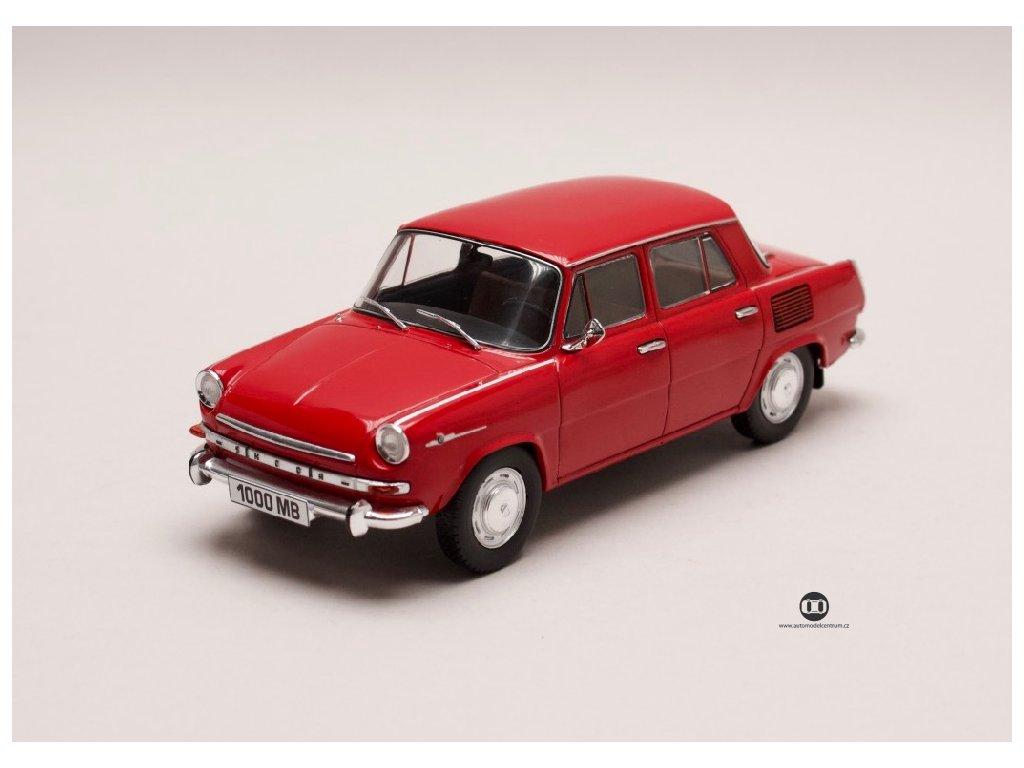Škoda 1000 MB 1969 tmavě červená 1 24 WhiteBox 124066 01