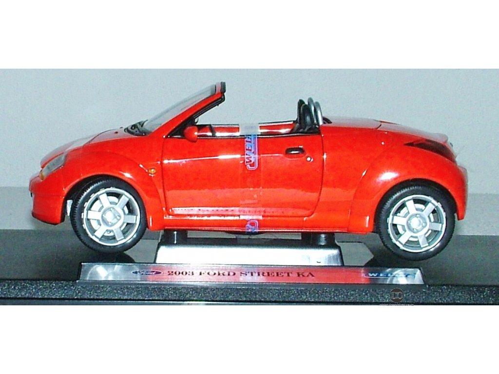 Ford Street KA 2003 červená 1:18 Welly